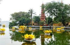 Одна из жемчужин и старейших памятников Вьетнама — Пагода Чанкуок в Ханое